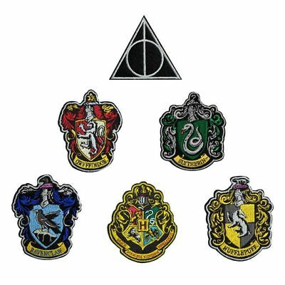 Lot 6 ecussons brodés Harry potter officiels Harry potter official patch pack