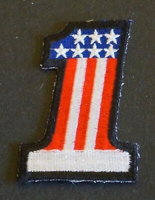 Patch Abzeichen Badge Aufnäher Amerika Nr. 1 Flagge America First