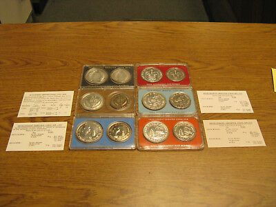 India 1973 1974 1975 1976 1977 1978 FAO Development sets silver 20 & 50 Rupees