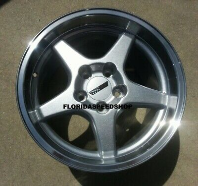 C4 Zr1 Silver Machined Corvette Wheels Rims 17x9 5 17x11