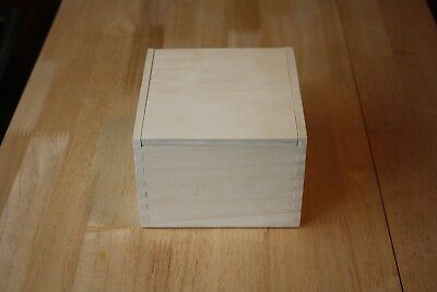 Small Unfinished Pine Wood Box with Lid