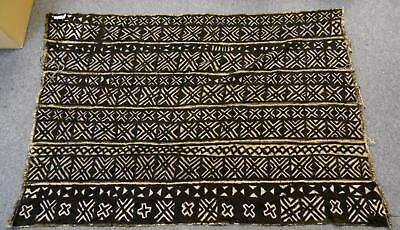 """Authentic Vintage 53 X 35"""" West Africa Bambara African Woven Mali Hand Mud Cloth"""