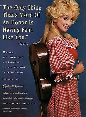 Dolly Parton 1 Page Magazine Picture Clipping Country Music