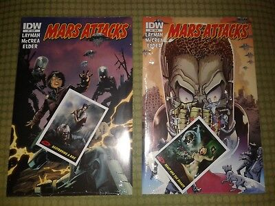 MARS ATTACKS Comic Books Issues #9 & 10 In Original Packaging w/ Collectors Card