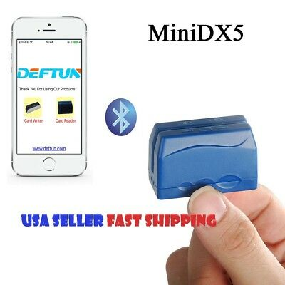 Bluetooth ATM Skimmer Portable Mobile Credit Card Reader Data Collector MiniDX5