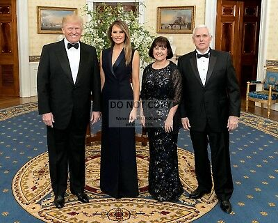 Donald Trump And Melania With Mike Pence And Wife Karen - 8X10 Photo (Ab-325)
