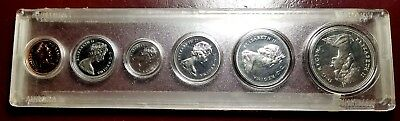 1971 Canada Mint Set-6 Pl Coins-Ms / Gem Brilliant Uncirculated-Clear Holder