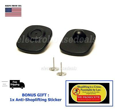 1000 High Quality EAS Checkpoint compatible Anti Theft Sensor Tag / pin + BONUS