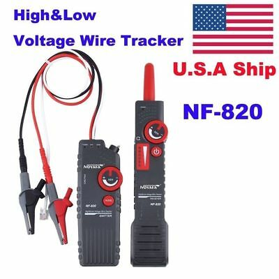 USA Stock No Tax NF-820 High & Low Voltage Cable Tester Wire Tracker Test Tool