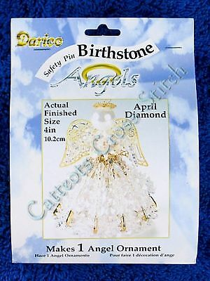 Angel Birthstone Bead Kit #04 ~ April / Diamond