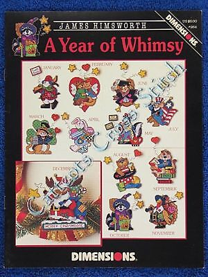 Cross Stitch Pattern A Year of Whimsy Christmas Easter James Himswoth OOP