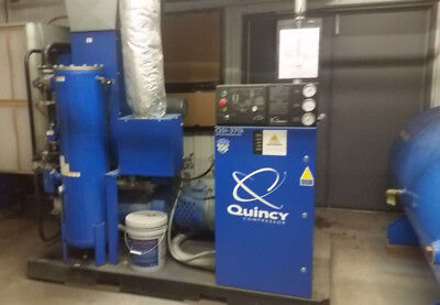 Quincy QSI-370i Rotary Screw Air Compressor w/Zeks Air Dryer and Large Air Tank