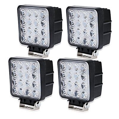 """48w 4"""" Flood Led Work Off Road Driving Light Off-Road Suv Boat Jeep 4Wd Truck"""
