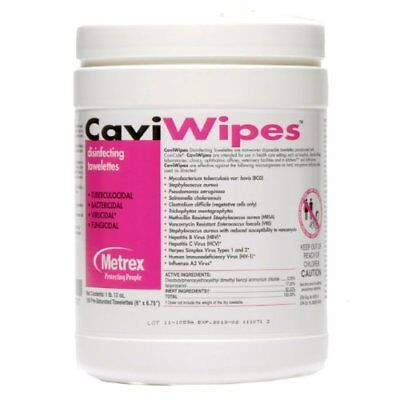 CaviWipes Metrex Disinfecting Towelettes Canister Wipes, 160 Count