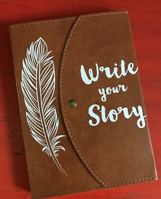 Journal Brown Faux Leather 'Write Your Story' Writer's Journal NEW