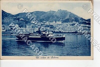 87081 Salerno Città 1936 Battello Barca Nave Ship Boat