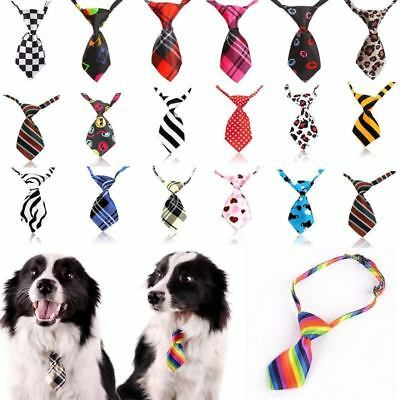 Adjustable Pet Puppy Kitten Dog Cat Necktie Grooming Suit Bow Tie Cute Colorful