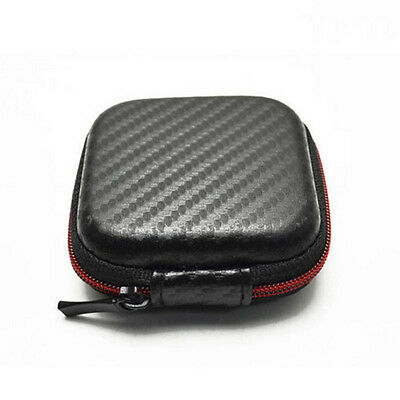 Mini Square Case Bag Pouch Storage Box for In-ear Headphones Headset、New