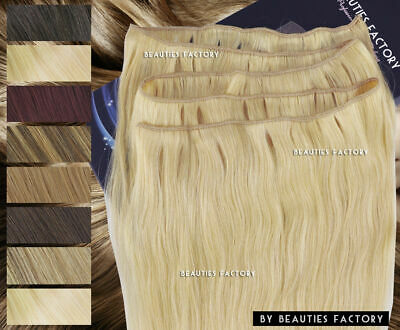 DIY Straight 100% Remy Human Hair Extension Long Weft (No Clip) Make Your Length