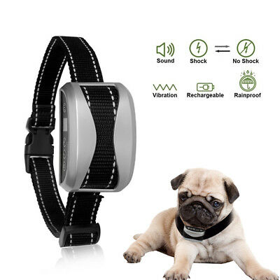 Anti Bark Pet Dog Training Shock Collar Stop Barking Control Rechargeable Device
