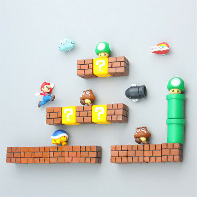 Hot Game Super Mario Refrigerator Magnets 3D PVC Fridge Note Posted Sticker Gift