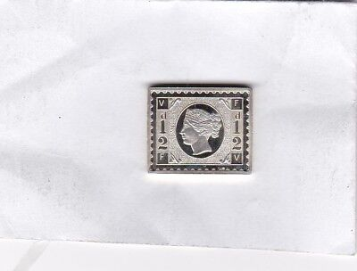 Victorian Half Penny Silver Stamp Ingot In Near Mint Condition