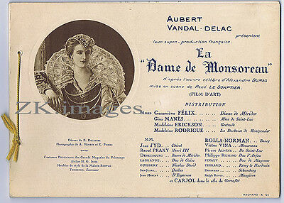 La DAME DE MONSOREAU 12 Photos Dumas Film d'Art 1923/25