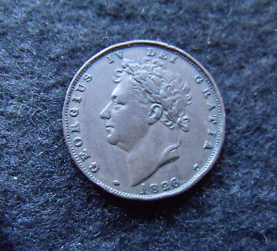 1826 George IV Copper Farthing Type II Britiish Coins More pics in description.