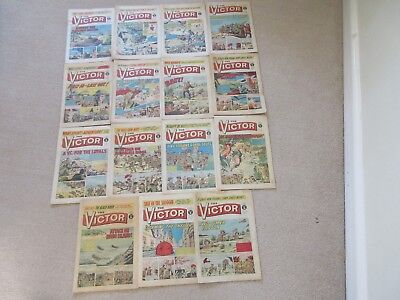 VICTOR COMICS X 15 from 1972 - Good condition/ WARLORD-Job Lot