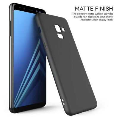 For Samsung Galaxy S9 A8 Plus 2018 Shockproof Matte Slim Rubber Soft Case Cover