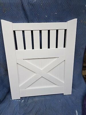 Timber Gates 1210x1005mm KARRI VICTORIAN COLONIAL GATES WOODEN PRIMED FENCE GATE