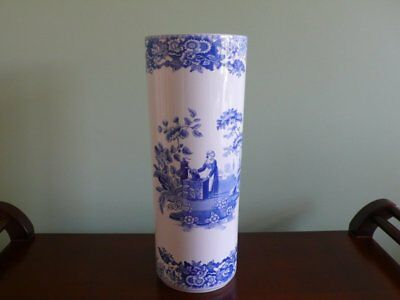 Tall Spode Vase The Spode Blue Room Girl At Well 32Cm High Made In England