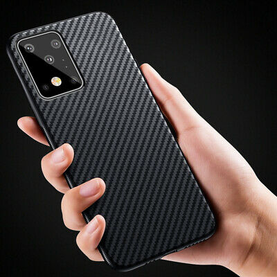 For Samsung Galaxy Note 9 S8 S9 Plus Carbon Fiber Shockproof Soft TPU Case Cover