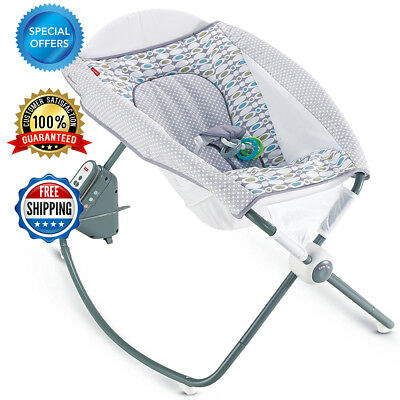 Auto Rock n Play Baby Rocking Sleeper Infants Aqua Stone Fashion FREE SHIPPING