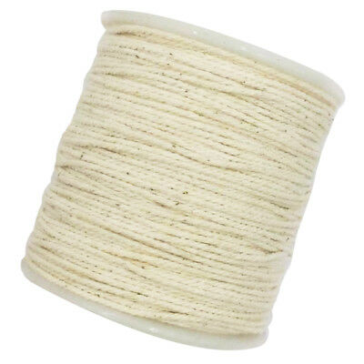100 Meters 1mm Natural Twisted Cotton Rope Braided Decorative Artisan Cord
