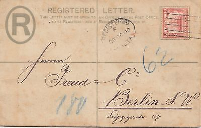 Malta: 1900: Registered letter nach Berlin