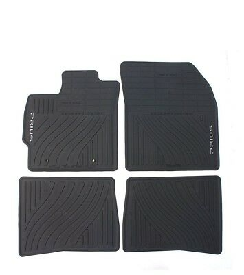 For Toyota Prius 10-11 Front & Rear All-Weather Floor Mat Black Rubber Genuine