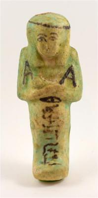 Egypt TIP 21/22th Dynasty blue faience shabti of Nes(y)-Khonsu