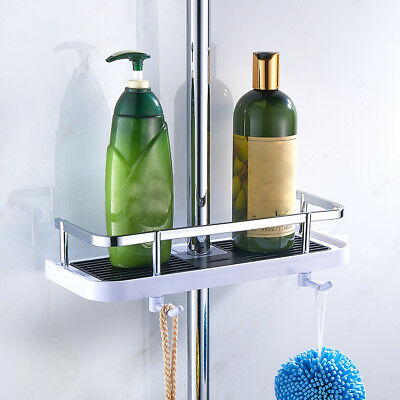 HOT Largre Bathroom Pole Shelf Shower Storage Caddy Rack Organiser Tray Holder