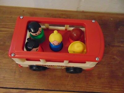 Vintage Fisher-Price Little People  School Bus   1969 White