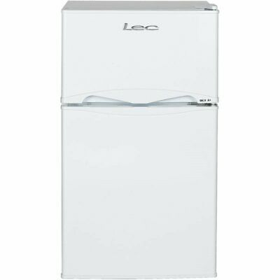 LEC T50084W 92 Litre Under Counter Fridge Freezer in White, A+ Energy, Low Noise