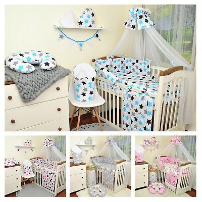 Baby bedding sets 2,3,6,9 or 15 pcs for cotbed 140x70 or cot 120x60