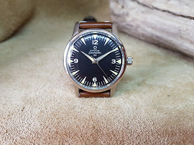Rare Vintage Omega Seamaster 30 Cal:286 Black Dial Manual Wind Man's Watch