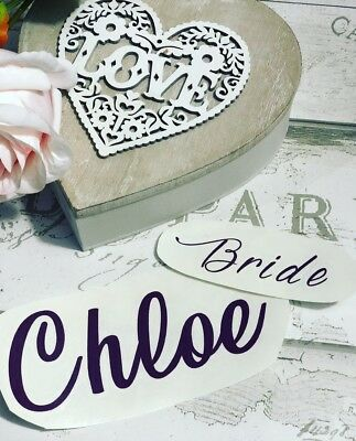 Personalised Vinyl Decal For Wedding Box/ Bride & Groom/ wedding Bridal party
