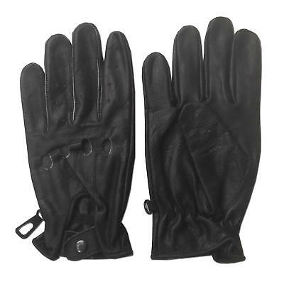 MENS COWHIDE SOFT LEATHER DRIVING GLOVES M,2xL