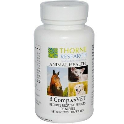 Thorne Research, Animal Health, B ComplexVet for Cats, Dogs & Horses, 60 Capsule