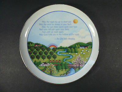 "Vtg 1984 American Greeting Lasting Memories An Old Irish Blessing 6 3/8"" Plate"