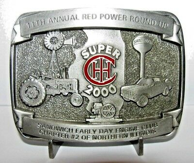 IH International Farmall Super Series H Tractor Scout Hit Miss Belt Buckle 2000