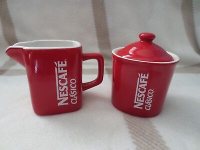 Nestle Nescafe Clasico Sugar Bowl and Creamer VHTF