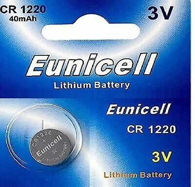 EUNICELL- 1 Battery Lithium 3 volt CR1220 BR1220 DL1220 ECR1220 PA 5012LC